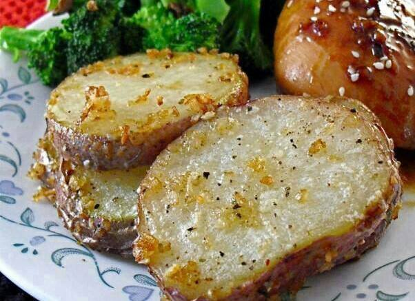 ONION PARMESAN ROASTED RED POTATOES