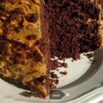 Chocolate cake with caramel filling
